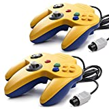 2 Pack Classic N64 Controllers, miadore Retro N64 Gamepad Joystick Joypad for N64 System Home Video Game 64 Console