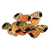 Guitar Picks 18 Pack, Vintage Celluloid Assorted Guitar Pics for Electric, Acoustic or Bass Guitar (Light /Medium/Heavy)