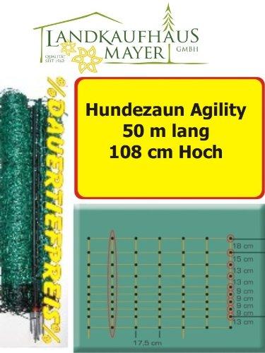 Schafzaun Hundezaun Grün 108cm 50m *AGILITY* für mittlere u. große Hunde.... Maschenweite 17 x 13cm