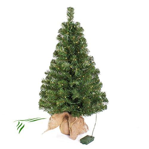 Artplants.de Mini árbol Navidad VARSOVIA Leds, Saco