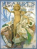 子供のための番号キットによるDIY油絵ペイント子供のためのアルフォンス・マリア・ミュシャのイラスト大人の初心者がブラシで描くクリスマスの装飾装飾ギフト