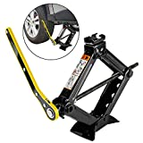 Forever Speed Scissor Jack Car Lift for Car/SUV/MPV/Family Car Pickup Truck (Black, 2T)