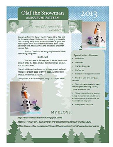 Snowman - Amigurumi Crochet Pattern/ Stuffed Animal Tutorial /: snowman from the Disney movie Frozen, Olaf the snowman,