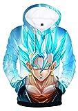 HUASON Niño Goku Sudadera con Capucha Dragon Ball Hoodie de Anime Impresión 3D Ropa Deportiva de Hip Hop(2XS)
