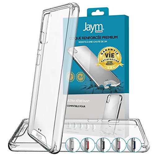 JAYM - Carcasa protectora para iPhone 12 y iPhone 12 Pro (reforzada, ultrarresistente, certificado de 3 metros, 5 juegos de botones de colores incluidos)