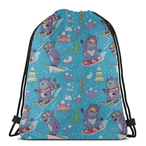 AEMAPE Skiing Extreme Sports Entertainment Favor Bags Drawstring Summer Drawstring Bag String Bag Backpack For Gym Outdoor Travel