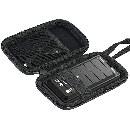 Khanka Hard Travel Case Compatible with WD Black WD_Black 500GB 1TB 2TB P50 SSD Game Drive Portable External