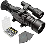Sightmark Wraith HD 4-32x50 Digital Riflescope Bundle with 4 AA Batteries, Battery Case and Lumintrail Cleaning Cloth