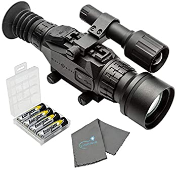 Sightmark Wraith HD 4-32x50 Digital Riflescope Bundle with 4 AA Batteries Battery Case and Lumintrail Cleaning Cloth