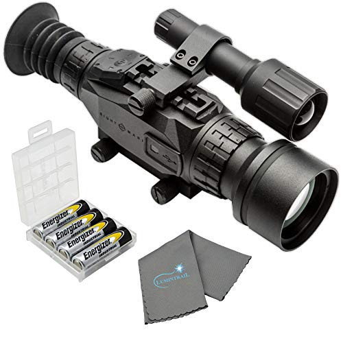 Sightmark Wraith HD 4-32x50 Digital Riflescope Bundle with 4 AA Batteries, Battery Case and...