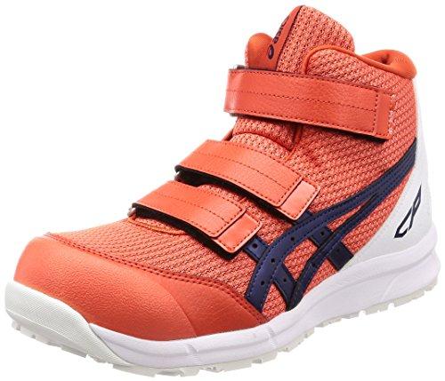[アシックス] 安全靴/作業靴 ウィンジョブ CP203 JSAA A種先芯 耐滑ソール チェリートマト/インディゴブルー 28.0
