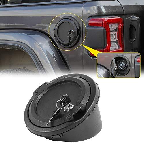 RT-TCZ Fuel Filler Door Gas Tank Cap Cover Accessories for 2018-2019 Jeep Wrangler JL 2-Door 4-Door (JL Gas Cap with Lock)