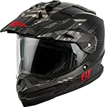 Fly Racing 2020 Trekker Helmet - Quantum (Large) (Matte Black/Grey/RED)