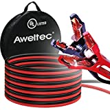 AWELTEC UL-Listed Jumper Cables, 4 Gauge 20 Feet Battery cables for car, Heavy Duty Booster Cables with Carry Bag (4AWG x 20Ft)
