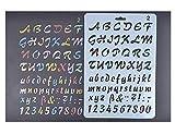 Plantilla con letras para niños, de Amupper, flexible, de plástico, tamaño de 25,9x 17 cm, plástico, Plateado, letterring02