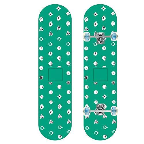 Z-Meng Zhong Skateboards, Monopatín Profesional De 31 Pulgadas con Ruedas LED, Apto para Patinetas para Niños, Niñas, Niños Y Principiantes