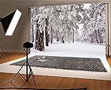 YongFoto 3x2m Vinilo Fondo de Fotografia Nieve Navidad Árboles Fuertes Nevadas WinterHappy Año Telón de Fondo Fiesta Niños Boby Boda Adulto Retrato Personal Estudio Fotográfico Accesorios