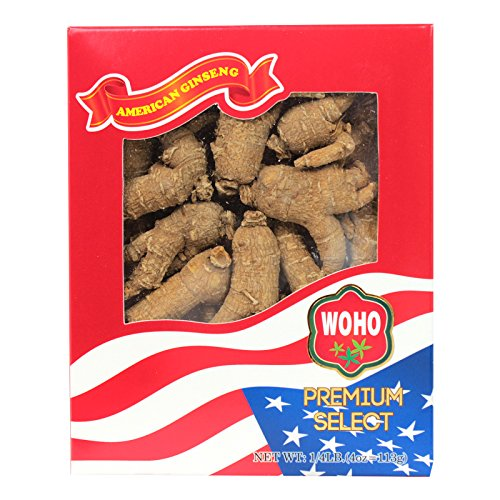 WOHO #110.4 Short Extra Large American Ginseng Roots 4oz Box
