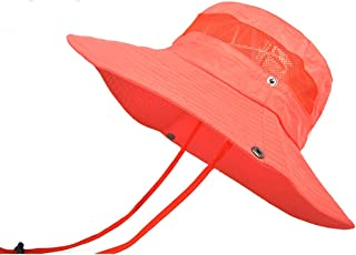 SHYPwM Outdoor Mountaineering Breathable Sunshade Net Cap, Quick-Drying Fishing Hat Fisherman Hat (Color : Orange)