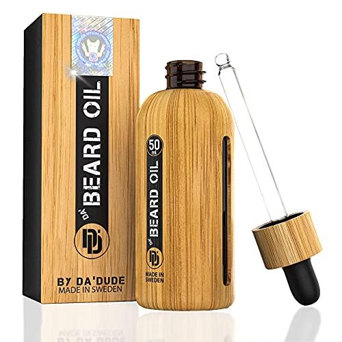 Da'Dude Da Beard Oil, Bartöl vegan für den Bartwuchs, Spendet Feuchtigkeit und macht den Bart weich, Das Geheimnis für einen toll aussehenden Bart