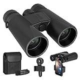 10x42 Roof Prism Binoculars for Adults - Professional HD Binoculars for Birds Watching