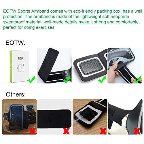 EOTW Sportarmband Handyhülle Kompatibel mit Huawei P20/ P20 Lite/ P30, Handytasche Sport für Joggen Laufen Schwarz - 5