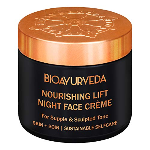 BIOAYURVEDA Nourishing Lift Night Face Care Cream  Organic Night Cream Skin Care Tone Moisturizer for Face  For Dark Circles, Acne, Wrinkles, Pigmentation, Dry Facial Area 120GM