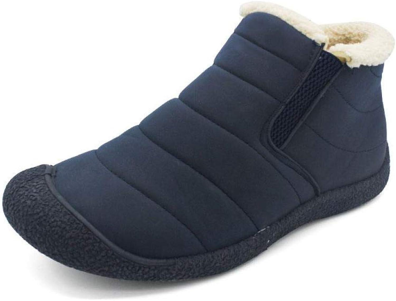 WDDGPZYDX Sports shoes Men Boots Winter Boots Warm Men Snow Boots Plus Size 46 Unisex Ankle Fashion Men shoes Winter