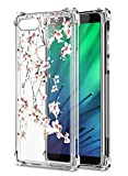 Oihxse Cristal Compatible con Samsung Galaxy A6 Plus 2018/A9 Star Lite Funda Transparente TPU Silicona Estuche Airbag Esquinas Anti-Choque Anti Rasguños Diseño Rosa Flower Caso (Flores A5)