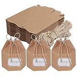 TsunNee Scatole di carta per caramelle, esagonali per bomboniere, scatole regalo fai da te, scatole regalo di carta, confezioni regalo con adesivi di ringraziamento, multicolore