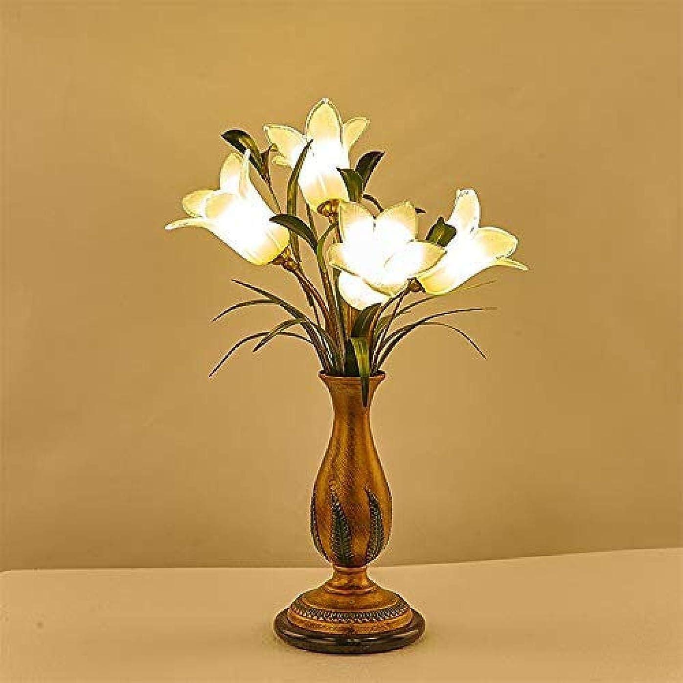 モノグラフジャニス魅了するガラス錬鉄製テーブルランプボタンスイッチコントロールアメリカンパストラルスタイル人格レトロデザイン暖かいロマンチックな