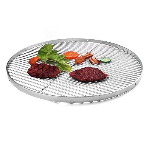 Grille ronde 70 cm en acier inoxydable avec 3 lames