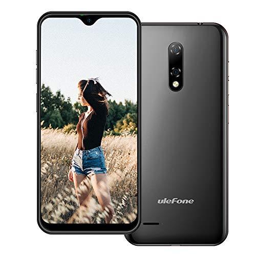 Ulefone Note 8P, Android 10 Smartphone ohne Vertrag Günstig, 5,5'' Wassertropfen-Bildschirm 4G LTE Handy, 2GB+16GB, DUAL SIM + SD (3 Kartensteckplätze), Gesichtsentsperrung, 8MP+2MP+5MP, GPS Schwarz