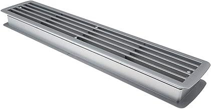 L/üftungsgitter BRISE 457 x 92 x 17 mm grau doppelseitig durchblicksicher Schlitzlochung T/ürl/üftungsgitter Schlitzgitter Abluftgitter von SO-TECH