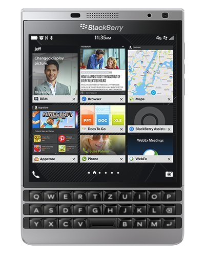 BlackBerry Passport Smartphone (11,4 cm (4,5 Zoll) Display, 32GB interner Speicher, Blackberry OS 10.3) silber