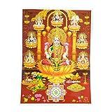 Bild Lakshmi 30 x 40 cm Gottheit Hinduismus Kunstdruck