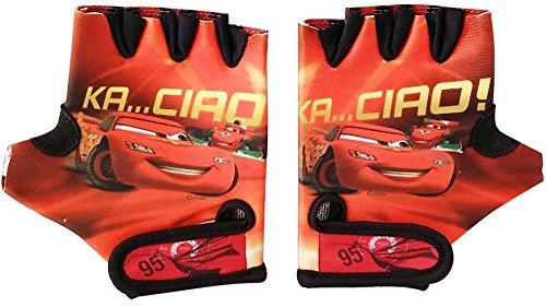 Disney Jungen Car Fahrradhandschuhe mit Klettbefestigung, Rot, S, 802229