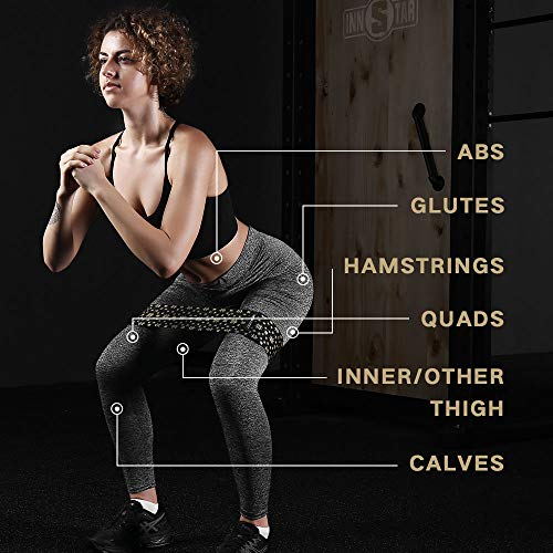 INNSTAR Booty Resistance Band Glute Cord System Cable Machine for Hip Home Workout Cable Kickbacks with Instructions & Carry Bag (S+M+L-Hip Circle Band)