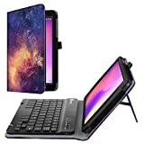 Fintie Alcatel Joy Tab 2019 / Alcatel 3T 8' Keyboard Case - PU Leather Folio Stand Cover with Removable Wireless Bluetooth Keyboard Also for T-mobile Alcatel A30 8-inch Tablet, Galaxy