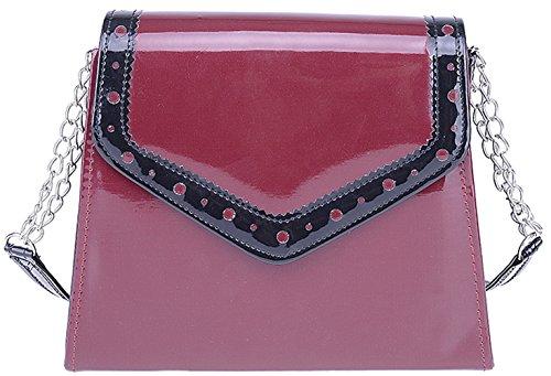 Küstenluder Damen Tasche Deadra Budapester Lack Handtasche Mehrfarbig