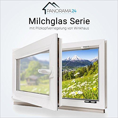 Kellerfenster - Kunststoff - Fenster - weiß - Milchglas - 3-fach-Verglasung 100x80 cm - DIN links - 60mm Profil - verschiedene Maße - schneller Versand