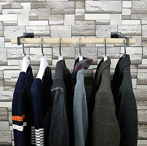 LXSnail Manguera de Pared Retro Percha de Hierro Sala de Estar Percha de Pared de Moda Personalidad Ropa de Feng Shui Industrial Soporte de exhibición Perchero (Color : D, Tamaño : 25 * 60cm)