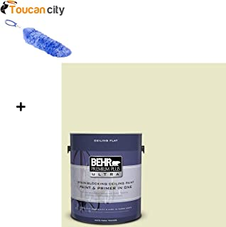 Toucan City Flexible Static Duster and BEHR Premium Plus Ultra 1-gal. #PPU9-16 Ceiling Tinted to Pale Celery Interior Paint 555801