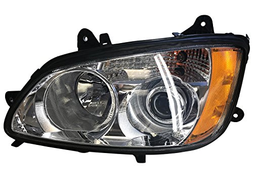 KENWORTH T660 HEADLIGHT DRIVER SIDE WITH BULBS