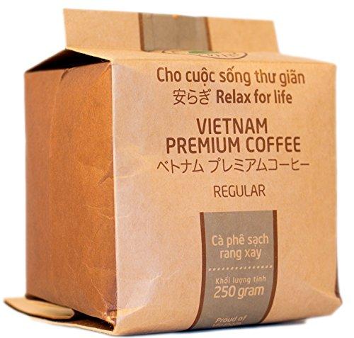VietBeans – Hello5 Regular Gemahlener Röstkaffee 250g – Kräftiger Vietnamesischer Kaffee mit Schokoladigem Aroma – Hoher Koffeingehalt– Kaffee Vietnam