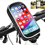 Full sprint Bike Frame Bag impermeable Bike Phone Holder Mount Ciclismo Marcos Alforja con pantalla táctil Tubo superior Agarraderas Bolsas para iPhone XS MAX/XR/X/8Plus Samsung S9/S8/S7 hasta