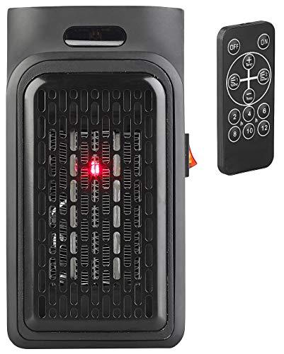 Sichler Haushaltsgeräte Mini Heizung: Mini-Steckdosen-Heizlüfter mit Timer & Fernbedienung, 2-stufig, 500 W (Miniheizer)