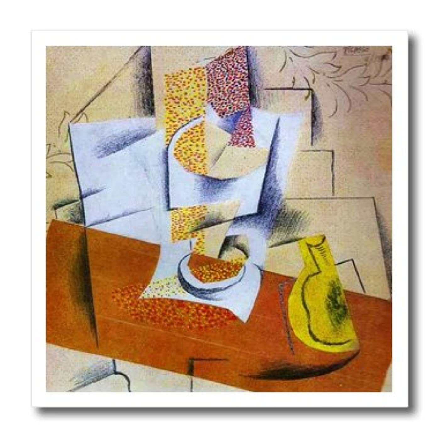 3dRose ht_62288_3 Painting Picasso Bowl N Fruit Iron on Heat Transfer, 10 by 10