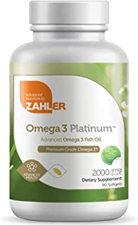 New and Improved! Zahler Omega 3, Advanced Omega 3 Fish Oil Supplement, Contains EPA and DHA, Certified Kosher, 90 Softgels