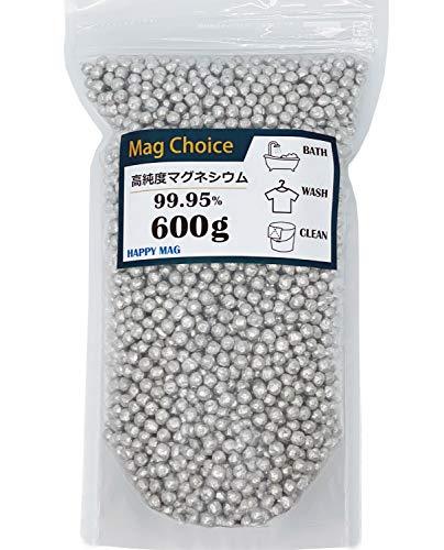 [Amazon限定ブランド] Mag Choice【大容量600g】マグネシウム 粒 ペレット 高純度 99.95% 洗濯 部屋干し 臭...